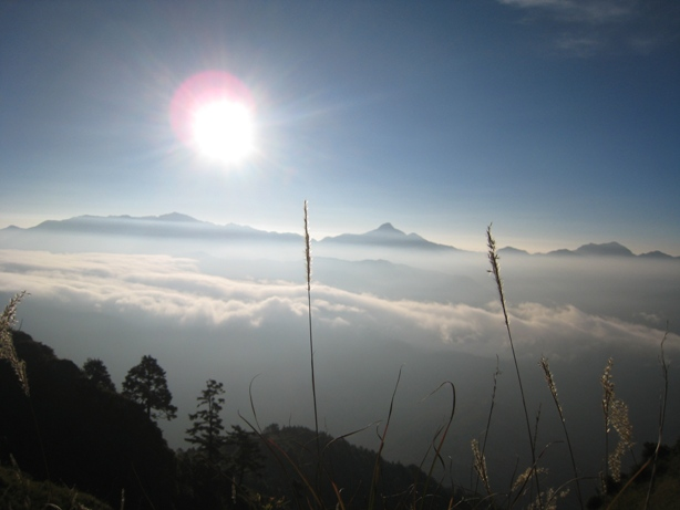 玉山と雪山登頂
